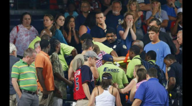 Fatal Fall The Third At Turner Field Since 2008