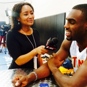Sytonnia LIVE with Sports Wire. Interviewing Tim Hardaway Jr. at Hawks Media Day.