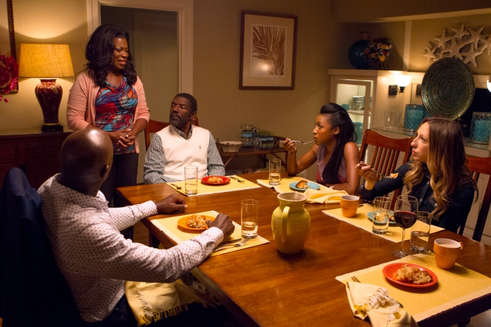 "ROSEWOOD: L-R: Morris Chestnut, Lorraine Toussaint, guest star Vondie Curtis-Hall, Gabrielle Dennis and Anna Konkle in the ""Policies and Ponies"" episode of ROSEWOOD airing Wednesday, Nov. 4 (8:00-9:00 PM ET/PT) on FOX. ©2015 Fox Broadcasting Co. Cr: John P. Fleenor/FOX."