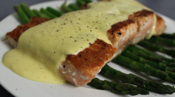 On The Menu: Salmon With Lime Hollandaise And Asparagus