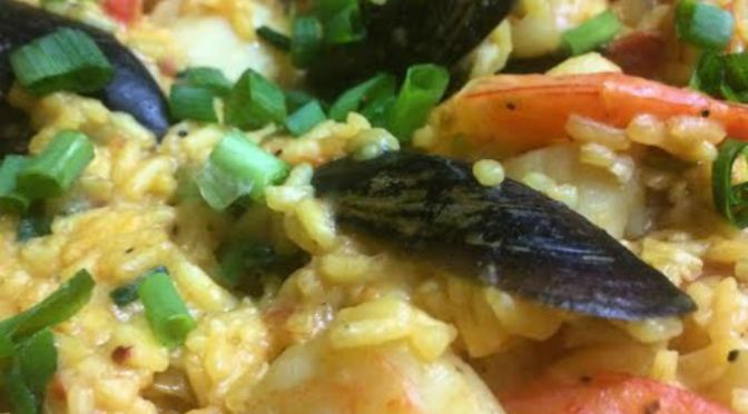 Try This Delicious Paella Dish  From Forbes Bistro