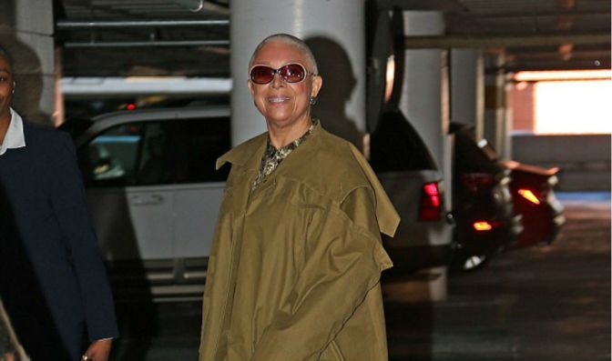 Staying Positive: Camille Cosby Pictured Smiling As She Arrives For Depostion In Bill's Assault Case
