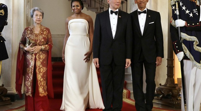 President Obama and FLOTUS Host Prime Minister Lee Hsien of Singapore And His Wife Ho Ching For State Dinner