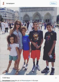 Larsa had their kids in Europe last week.