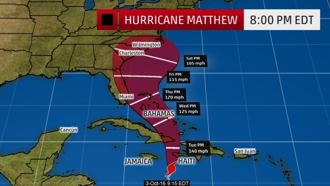 Threat To US From Hurricane Matthew Has Risen Some Impact Should Be Expected