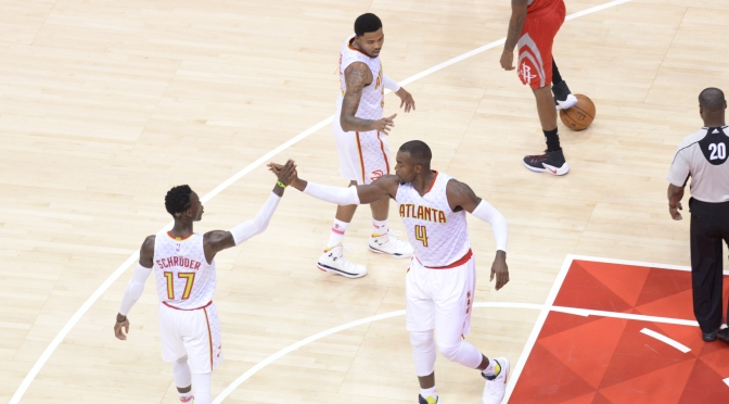 {Video} Dennis Schroder Hits Double Double Helps Lead Hawks To Easy Win Over Rockets