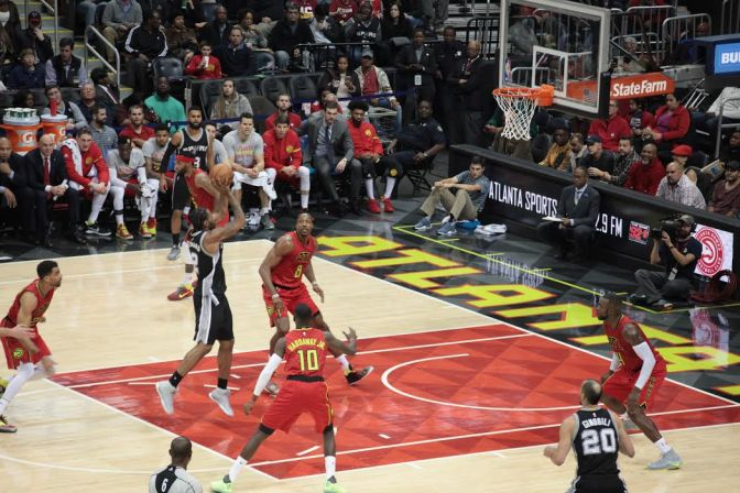 Hawks End Eleven Game Losing Streak Against The Spurs