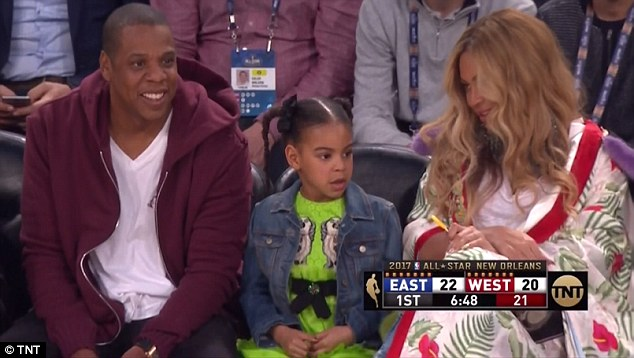 The Carters Take All-Star Weekend