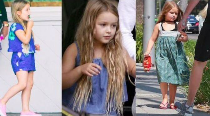 Cute Kid Alert! Harper Beckham Spotted Hanging Out With Her Mom