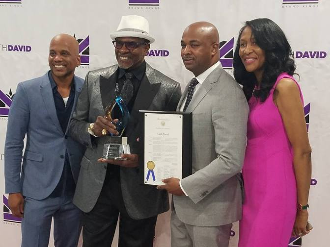 Atlanta City Councilman Kwanza Hall Presents A Proclamation And Award To  OWN TV's Keith David