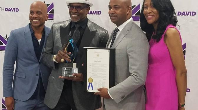 Atlanta City Councilman Kwanza Hall Presents A Proclamation And Award To  OWN TV's Keith David