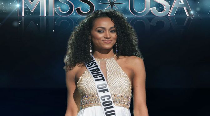 Curly Hair, Don't Care! Miss District Of Columbia Survives Healthcare Slip, Crowned Miss USA 2017
