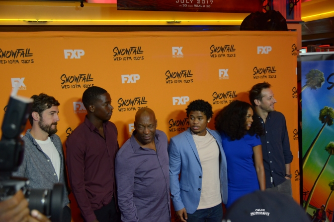 John Singleton Previews Snowfall With Cast In Atlanta