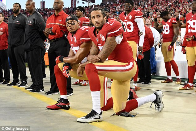 Hundreds Rally To Support Unsigned NFL Player Colin Kaepernick