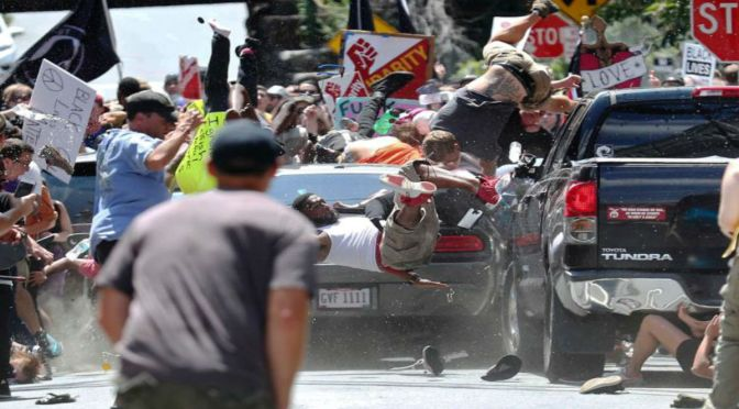 {Video} Poor Leadership, Car Plows Into Crowd, Trump Dancing Around Domestic Nazi Terrorism That Claimed A Life And Injured Dozens In Charlottesville Protest