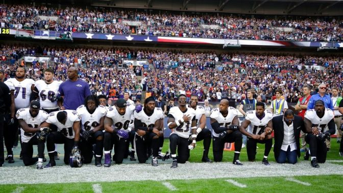 Jags and Ravens #TakeAKnee And Lock Arms While Steelers Plan To Skip The National Anthem Today In Protest Against Donald Trump
