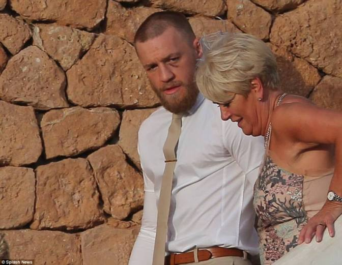 Conor McGregor Sports Shiner At Friends Wedding After Earning $130 Million Fighting Floyd Mayweather