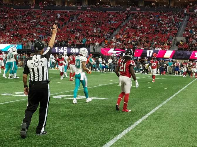 Miami Takes Advantage Of Undisciplined Plays To Comeback From 17 And Beat The Falcons