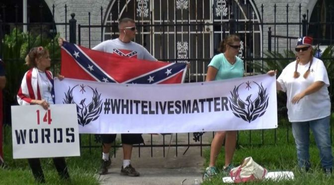 """""""White Lives Matter"""" Rally Underway In Shelbyville"""