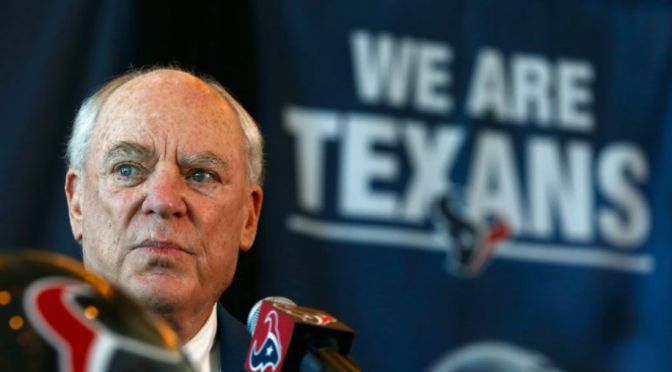 "Texans Owner Bob McNair Apologizes For ""Inmates Running The Prison"" Comment"