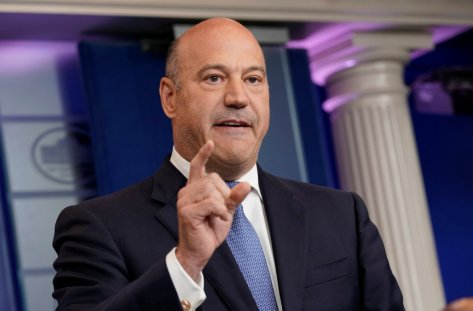 White House chief economic adviser Gary Cohn speaks during a press briefing