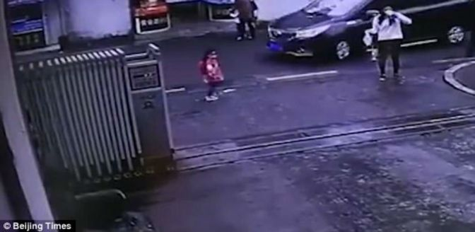 Car Runs Over Child While Mother Sips Drink