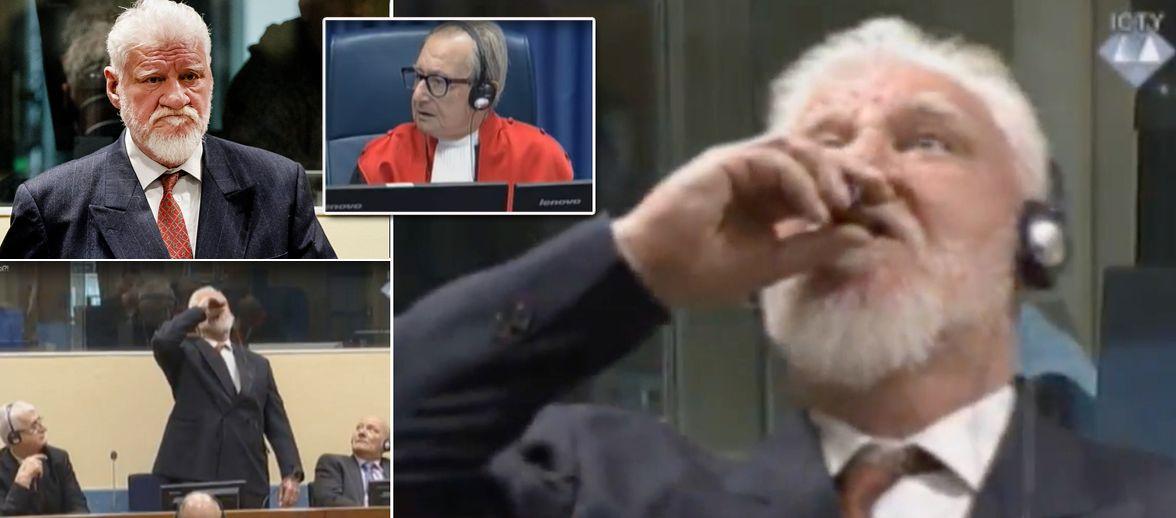 War Criminal Swallowing Court >> Bosnian Croat War Criminal Kills Himself By Drinking Poison After Losing 20 Year Sentence Appeal ...