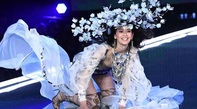 Smile And Keep It Moving: Ming Xi Falls During Victoria's Secret Fashion Show In China And Recovers Like A True Pro