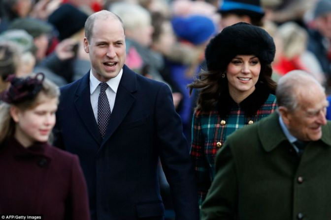 The Duke And Duchess of Cambridge Lead The Royals To Christmas Day Service