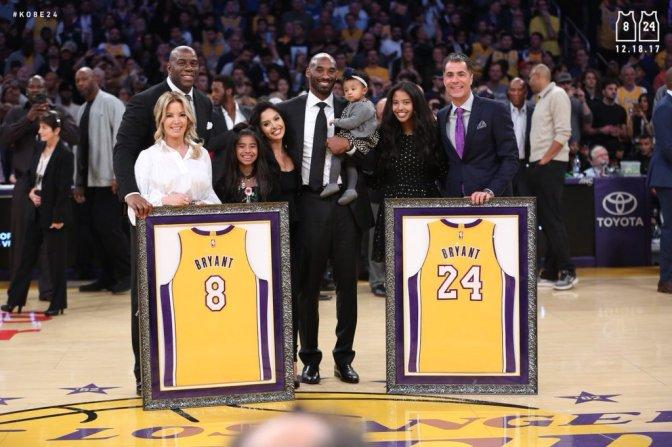 Mamba! Lakers Retire Both Of Kobe's Jerseys