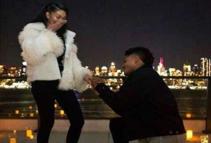 Giants WR Sterling Shepard Proposes To Model Chanel Iman