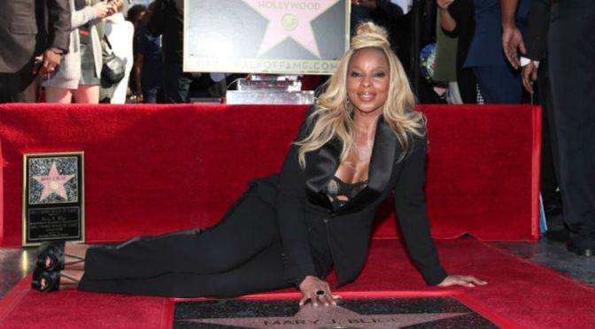 Mary J. Blige Receives Hollywood Walk Of Fame Star