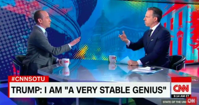 "{Video} Jake Tapper Shuts Down Stephen Miller: ""I've Wasted Enough Of My Viewers Time."""