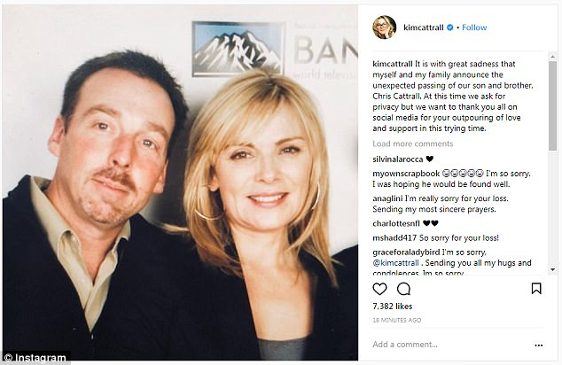 Kim Cattrall's Brother Found Dead After Going Missing A Week Ago