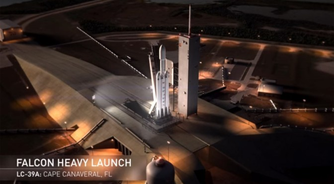 SpaceX Scheduled To Launch Falcon Heavy Tomorrow