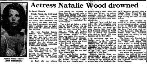 Natalie drowned