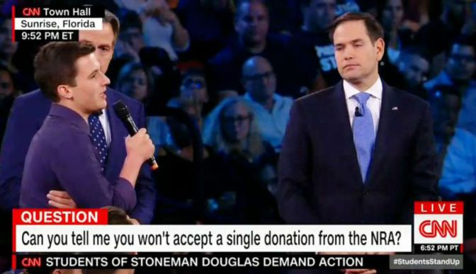 Marco Rubio Roughed Up At Contentious Florida Town Hall