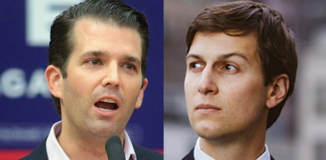 Trump Junior In India While Mueller Eyes Brother-In-Law Kushner's Foreign Financing Pursuit