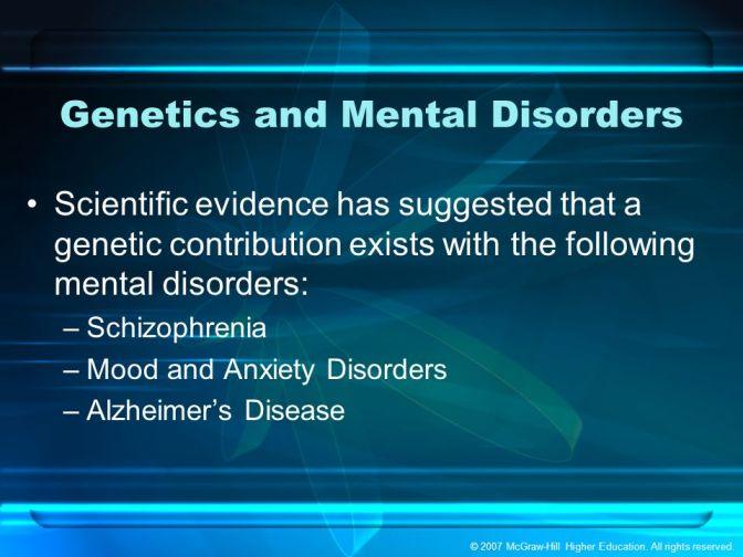 Scientists Find Genetic Patterns Between Mental Disorders