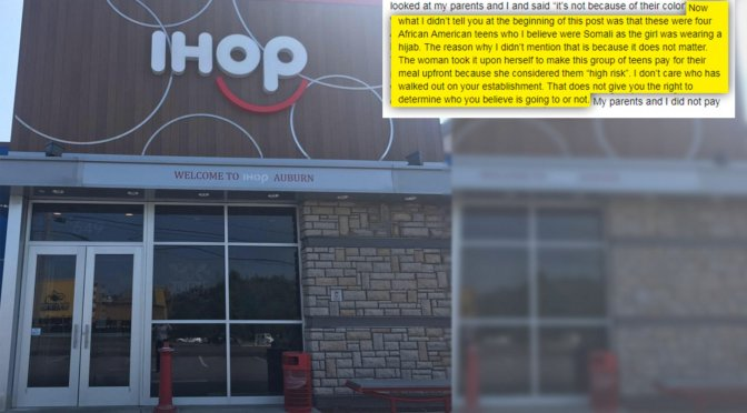 IHOP Waitress Asks Black Teens To Pay Upfront