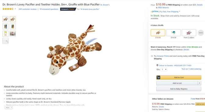 Pacifier, Teether Holders Under Recall