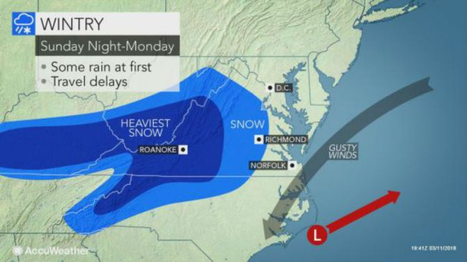 Snow In Mid-Atlantic Storm May Evolve Into Blizzard