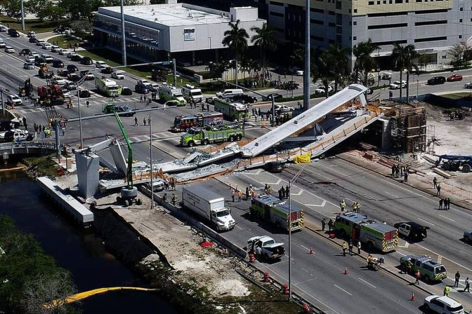 Two Vehicles, Three Bodies Recovered From Florida Bridge Collapse, FDOT Warned About Crack