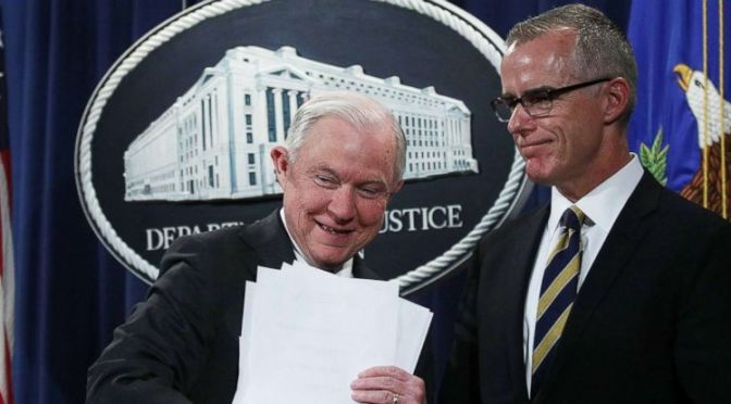 Report: McCabe Opened Perjury Investigation Into Sessions