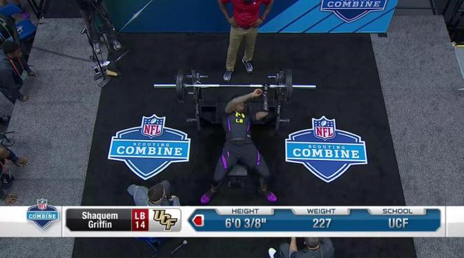 Super Natural: One-Handed NFL Prospect Posts 20-Rep Bench Press