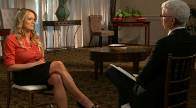 "Adult Film Star Stormy Daniels Speaks On Alleged Affair On CBS's ""60 Minutes"""