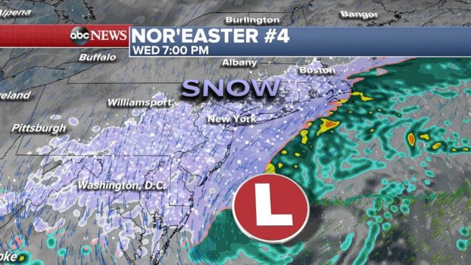 Nor'easter Drops Over A Foot Of Snow On Northeast