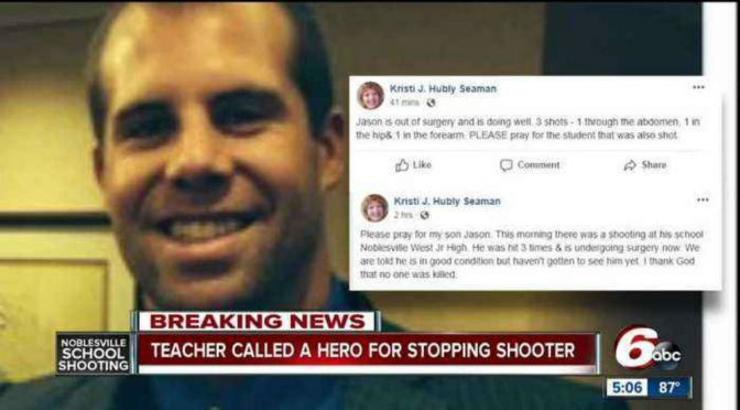Teacher Hailed As Hero In Indiana School Shooting
