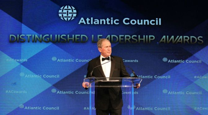 George W. Bush Warns About Dangers Of Isolation
