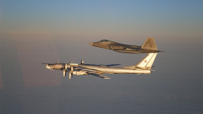 U.S. Stealth Fighters Intercept Russian Bombers Off Alaska